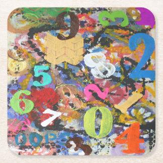 Porta-copo De Papel Quadrado Portas copos Funky dos números
