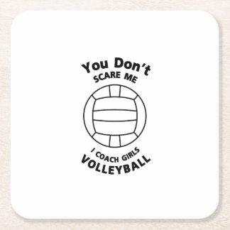 Porta-copo De Papel Quadrado Presente engraçado do treinador do voleibol você