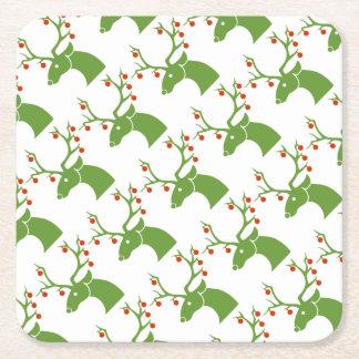 Porta-copo De Papel Quadrado Rena do Natal