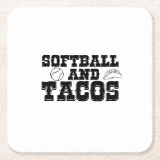 Porta-copo De Papel Quadrado Softball e engraçado afligido engraçado do Tacos