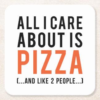 Porta-copo De Papel Quadrado Tudo cuidado de i é aproximadamente a pizza (e