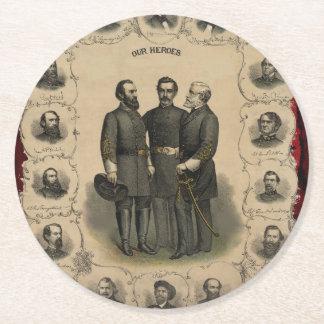 Porta-copo De Papel Redondo Heróis da guerra civil