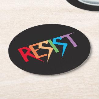 Porta-copo De Papel Redondo O arco-íris resiste as portas copos de papel