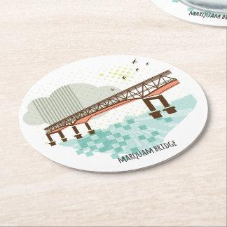 Porta-copo De Papel Redondo Porta copos de Portland da ponte de Marquam