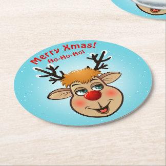 Porta-copo De Papel Redondo Rudolph - a rena a mais famosa de tudo