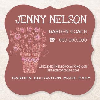 Porta-copo De Papel RoseGold & negócio de treinamento do jardim do