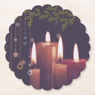 Porta-copo De Papel velas do Natal