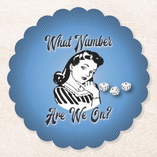 Porta-copo De Papel Vintage retro que número está nós ligada?