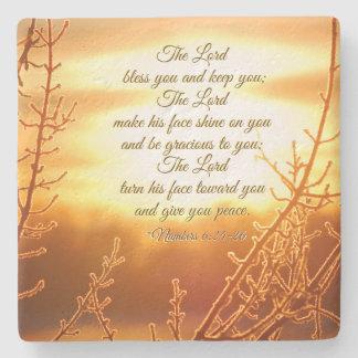 Porta-copo De Pedra 6:24 da Bênção Número do senhor - verso de 26