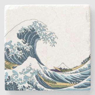 Porta-copo De Pedra A grande onda fora de Kanagawa