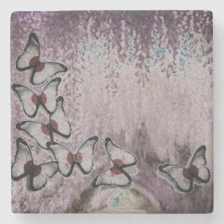 Porta-copo De Pedra Árvore Weeping empoeirada da borboleta