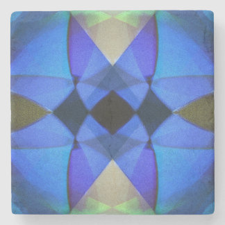 Porta-copo De Pedra Borboleta azul