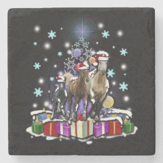 Porta-copo De Pedra Cavalos com estilos do Natal