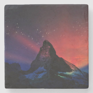 Porta-copo De Pedra Cenário colorido do céu de Matterhorn