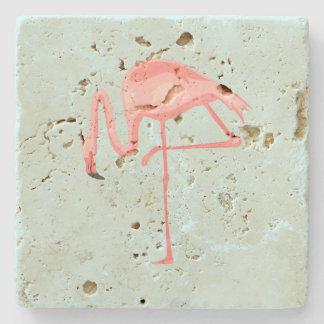 Porta-copo De Pedra Flamingo