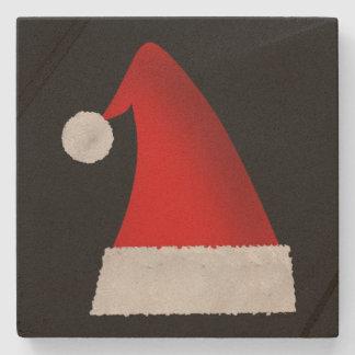 Porta-copo De Pedra Grande chapéu vermelho do papai noel do Natal