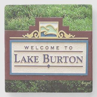 Porta-copo De Pedra Lago Burton, Coasters. de pedra de mármore