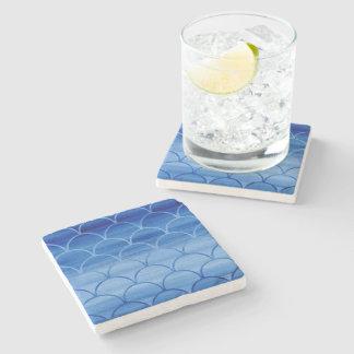 Porta-copo De Pedra Obscuridade à luz - teste padrão azul da escala