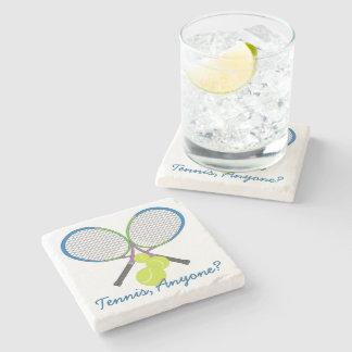 Porta-copo De Pedra Raquetes cruzadas tênis personalizadas