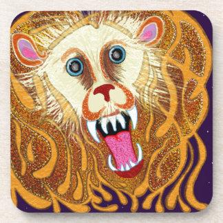 Porta-copo Leo o leão dourado