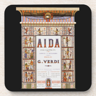 Porta-copo Música da ópera do vintage, egípcio Aida por Verdi