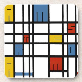 Porta-copo O quebra-cabeça de Amsterdão (estilo de Mondrian)