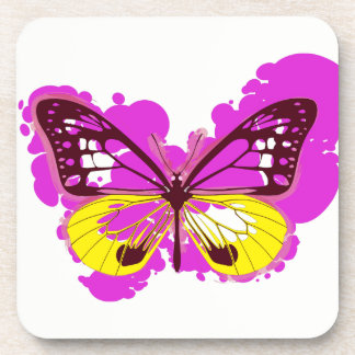 Porta-copo Portas copos cor-de-rosa da borboleta do pop art