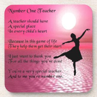 Porta-copo Professor do número um - design da bailarina