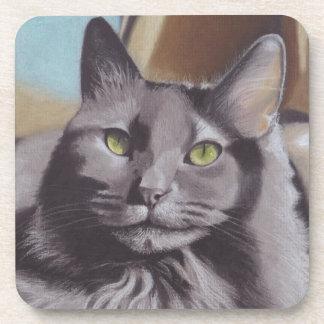 Porta-copo Retrato cinzento do animal de estimação do gato