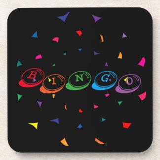 Porta-copo Rotulação colorida do BINGO no preto