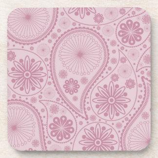 Porta-copo Teste padrão cor-de-rosa de paisley