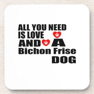 Porta-copo Tudo você precisa o design dos cães de Bichon