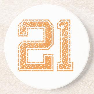Porta-copos A laranja ostenta o número 21.png de Jerzee