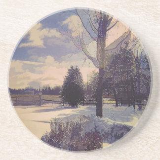 Porta-copos A neve ilumina a arte da paisagem