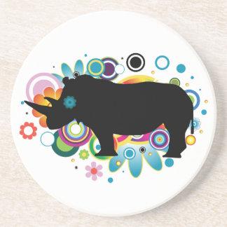 Porta copos abstrata do rinoceronte