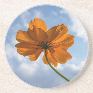 Porta copos alaranjada do arenito da flor do