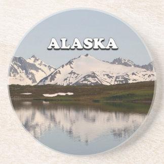 Porta-copos Alaska: Reflexões do lago das montanhas