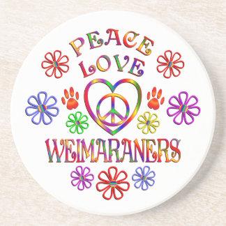 Porta-copos Amor Weimaraners da paz
