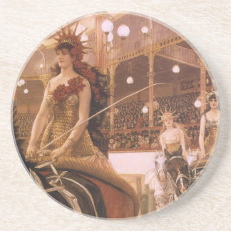 Porta-copos Arte do vintage, senhoras dos carros (circo) por