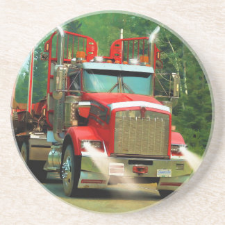 Porta-copos Arte grande do caminhão e da estrada para