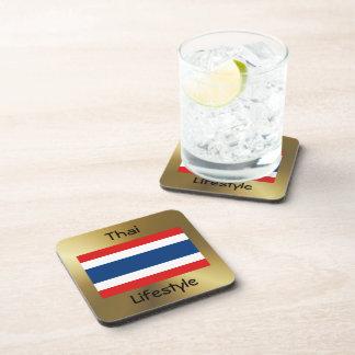 Porta-copos Bandeira de Tailândia+Porta copos do texto