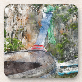 Porta-copos Barco longo tradicional em Tailândia