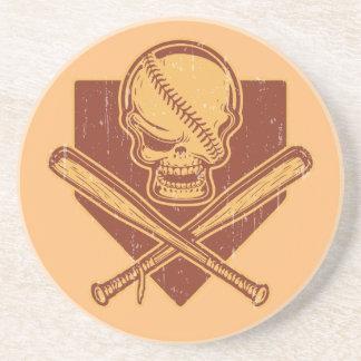 Porta-copos Bastões do crânio & da cruz do basebol