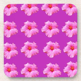 Porta-copos Beijos magentas e cor-de-rosa do hibiscus,