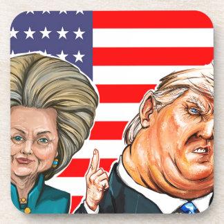 Porta-copos Caricatura do trunfo e da Hillary