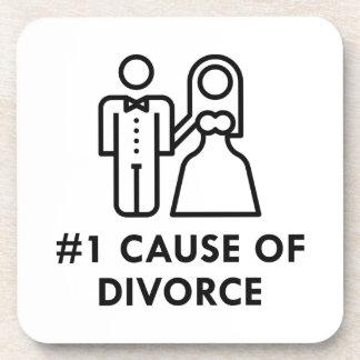 Porta-copos Causa do número 1 de divórcio