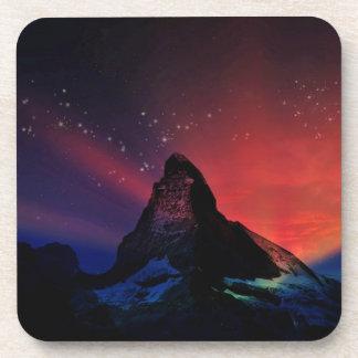 Porta-copos Cenário colorido do céu de Matterhorn