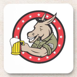 Porta-copos Círculo do bebedor de cerveja do asno retro
