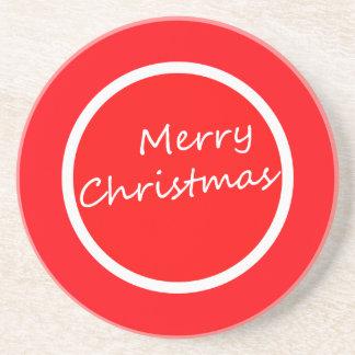 Porta copos colorida do Feliz Natal!