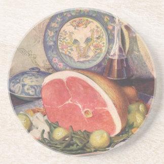 Porta-copos Comensal do presunto do vintage com feijões verdes